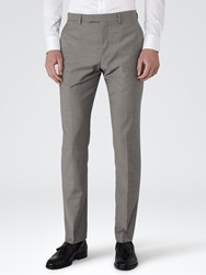 Reiss George Slim Fit Suit Trousers Light Grey