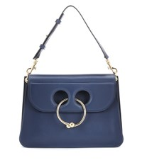 J.W.Anderson Medium Pierce Leather Shoulder Bag Blue