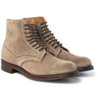 Cheaney Jarrow Cap Toe Suede Boots Neutral