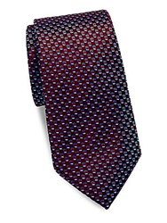 Saks Fifth Avenue Made In Italy Textured Neat Silk Tie Red Pink