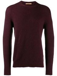 Nuur Fine Knit Sweatshirt Red