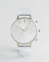 New Look Clear Sports Watch White