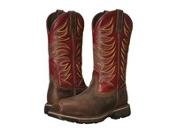 Ariat Workhog Wide Square Toe Tall Ii Compositie Toe Distressed Brown Ruby Red Men's Work Boots Tan