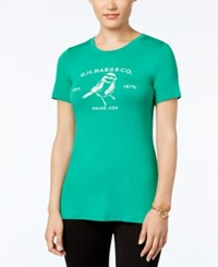 G.H. Bass And Co. Logo Graphic T Shirt Lush Green Combo