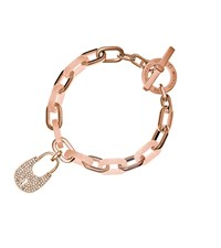 Michael Kors Padlock Rose Gold Tone Toggle Bracelet