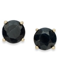 Victoria Townsend 18K Gold Over Sterling Sterling Earrings September's Birthstone Midnight Sapphire Stud Earrings 2 Ct. T.W. None