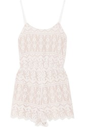 Alice Olivia Cassia Lace Playsuit Ivory