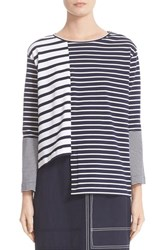 Stella Mccartney Women's Asymmetrical Breton Stripe Top