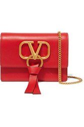 Valentino Garavani Vring Small Leather Shoulder Bag Red