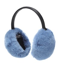 Yves Salomon Fur Ear Muffs Blue