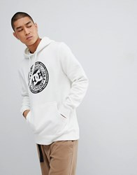 Dc Shoes Overhead Hoodie With Chest Logo In White