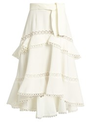 Zimmermann Winsome Tiered Skirt White
