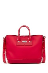 Hunter Original Rubberised Midi Tote Red