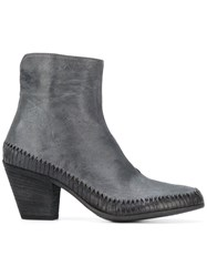 Officine Creative Woven Base Ankle Boots Grey