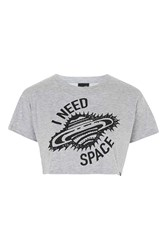 I Need Space Loose Fit Crop By Illustrated People White