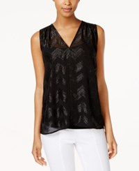 Tommy Hilfiger Metallic Chevron Top Black