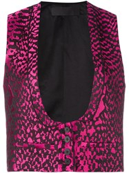 Haider Ackermann 'Madeleine' Waistcoat Pink And Purple