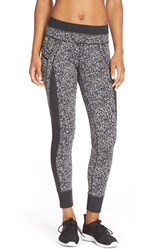 Women's Lole 'Burst' Print Leggings Black Snowstorm