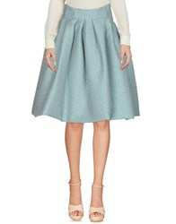 Io Couture Knee Length Skirts Turquoise