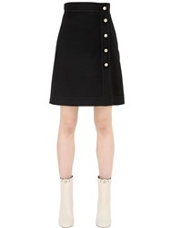 Gucci Wool And Silk Crepe Mini Skirt