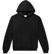 Fear Of God Oversized Loopback Cotton Jersey Hoodie Black