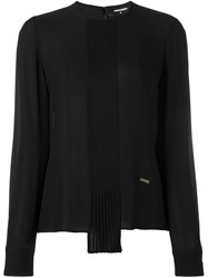 Dsquared2 Draped Long Sleeved Blouse Black
