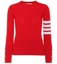 Thom Browne Cashmere Sweater Red