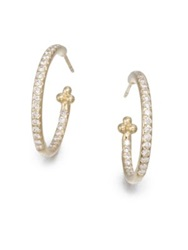 Temple St. Clair Classic Diamond And 18K Yellow Gold Hoop Earrings 0.7