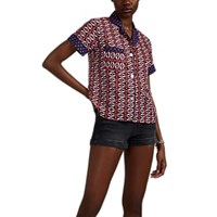 Warm Camp Ikat Inspired Cotton Voile Blouse Multi