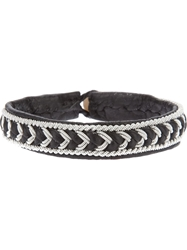 Ulla Soucasse Woven Leather And Silver Bracelet Black