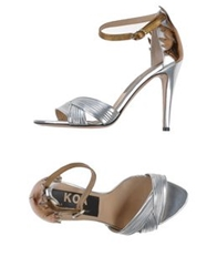 Golden Goose Sandals Silver