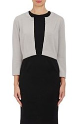 Lisa Perry Crop Cardigan Grey