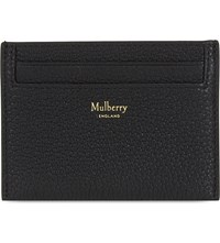 Mulberry Grained Leather Card Holder Black