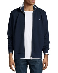 Lacoste Full Zip Tipped Track Jacket Navy