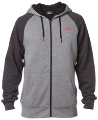 Fox Men's Legacy Fleece Hoodie With Faux Sherpa Lining Heather Graphite