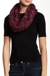 David And Young Loop Infinity Scarf Red