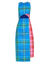 House Of Holland Long Tartan Wool Dress