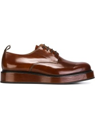 Carven Classic Derby Shoes Brown