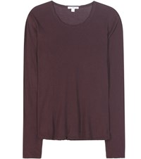 James Perse High Gauge Cotton Top Brown
