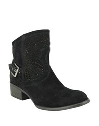 Naughty Monkey Zoey Suede Booties Taupe