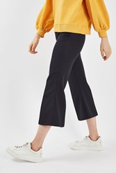 Topshop Tailored Kick Flare Trousers By Boutique Navy Blue