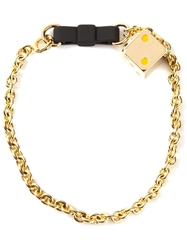 Marc By Marc Jacobs 'Bow Tie With Dice' Bracelet Metallic