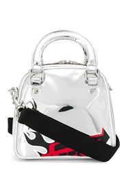 Mcq By Alexander Mcqueen Printed Tote Silver