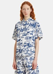 Snow Peak Camp Aloha Print Shirt White