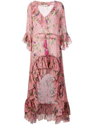 Anjuna Ruffle Detail Wrap Dress Pink