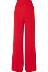 Costarellos Crepe Wide Leg Pants Red