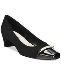 Easy Street Shoes Easy Street Alexis Pumps Women's Shoes Black Suede