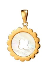 Asha Women's Quinn Mother Of Pearl Charm Gold Mother Of Pearl