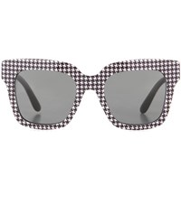 Dolce And Gabbana Houndstooth Sunglasses Black