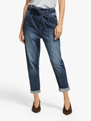 And Or Hollywood High Rise Tie Waist Jeans Dark Rock
